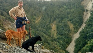 A young John and his dogs